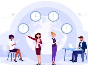 Managing Employees Working in Different Time Zones