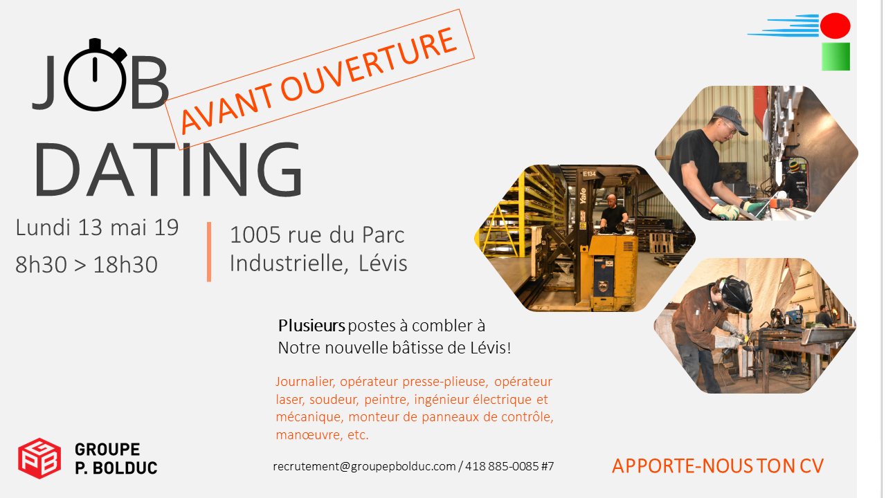 Job dating! Groupe P. Bolduc
